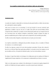 Le texte de Madame Nathalie BONHOMME - Juridat