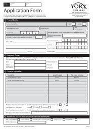 Application Form - York College