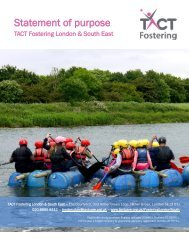 TACT Fostering London & South East's Statement of Purpose (SOP)