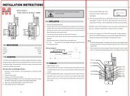 INSTALLATION INSTRUCTIONS - Morris Products