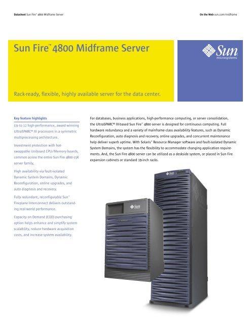 Sun Fire 4800 Midframe Server - Spectra