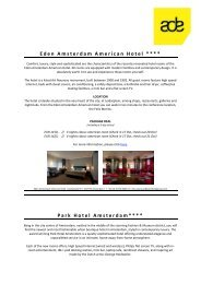 Eden Amsterdam American Hotel **** Park Hotel ... - Buma Cultuur