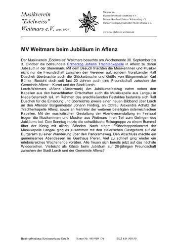 Musikreise Aflenz - Musikverein Weitmars