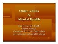 Older Adults and Mental Health - Washington Association of Area ...