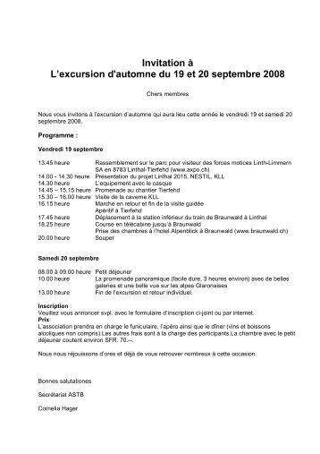 Braunwald magazines invitation lexcursion dautomne du 19 et 20 septembre 2008 stopboris Gallery