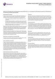soneran palveluiden yleiset toimitusehdot kuluttaja-asiakkaille