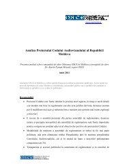Analiza Proiectului Codului Audiovizualului al Republicii Moldova