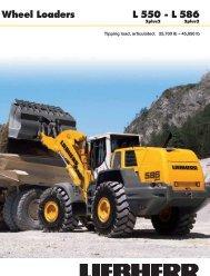 L 550 - L 586 Wheel Loaders