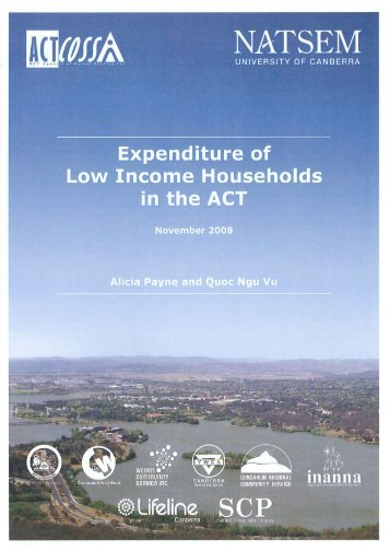 2 Comparing the expenditure of low income ACT households with ...