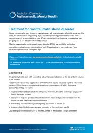 Treatment for posttraumatic stress disorder - Australian Centre for ...