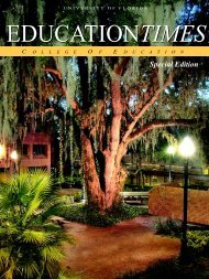 educationtimes - College of Education - University of Florida