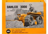 Dahlco 3000 Tractor