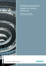 Building automation – impact on energy efficiency - Siemens