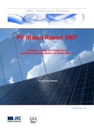 PV Status Report 2007 Research, Solar Cell ... - PV ERA NET