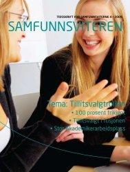 Tema: Tillitsvalgtrollen - Samfunnsviterne