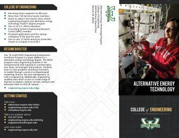 Alternative Energy technology - College of Engineering