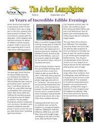 10 Years of Incredible Edible Evenings - Arbor Acres
