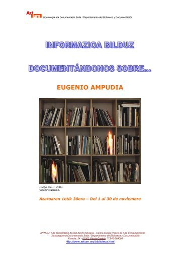EUGENIO AMPUDIA - Biblioteca Centro de Documentación - Artium