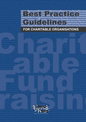 Best Practice Guidelines for Charitable Organisations