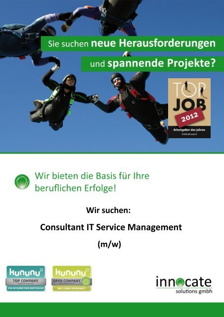 Consultant IT Service Management - innocate solutions gmbh