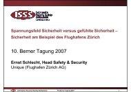 Sicherheit am Beispiel des Flughafens Zürich - ISSS