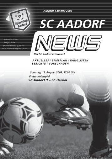 SCA-News Herbst 2008 - SC Aadorf