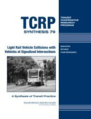 Light Rail Vehicle Collisions with Vehicles at Signalized Intersections