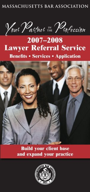 2007–2008 Lawyer Referral Service Profession Your Partner IN