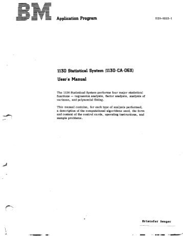 1130-CA-06X - All about the IBM 1130 Computing System