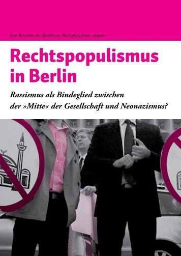 Broschüre - Rechtspopulismus stoppen - Blogsport