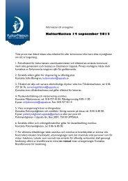 Information till alla arrangörer (pdf) - KulturNatten Uppsala