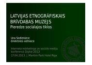 Una Sedeniece, Latvijas Etnogrāfiskais brīvdabas muzejs - BIG event