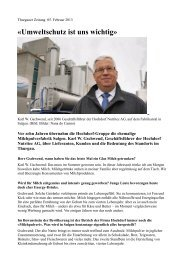 «Umweltschutz ist uns wichtig» - Faire Milch