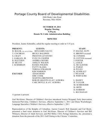 Portage County Board of Mental Retardation