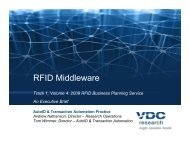 RFID Middleware Market Study - VDC Research
