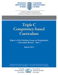 Triple C Competency-based Curriculum - The College of Family ...