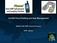 Management and Maintenance of Parcel Data - Northeast Arc Users ...
