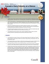 Canada's Dairy Industry at a Glance - Centre canadien d'information ...