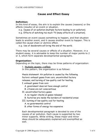 classification essay bogazici university online writing lab cause and effect essay bogazici university online writing lab