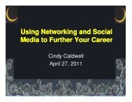 Using Networking and Social Media to Further Your Career