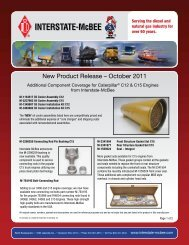 New Product Release – October 2011 - Interstate McBee