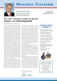 Wahlkreis-Telegramm Nr. 24 - Joachim Poß