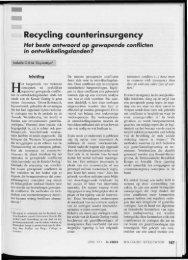 recycling counterinsurgency. het beste antwoord op ... - Boekje Pienter
