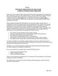 student employee of the year campus nomination process