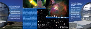 the universe - Department of Astronomy - University of Florida