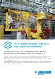 Photo-electric sensors for precise long range ... - Schneider Electric