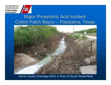 Major Phosphoric Acid Incident - U.S. National Response Team (NRT)