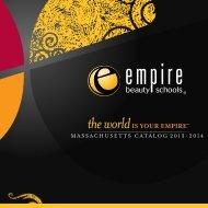 MASSACHUSETTS CATALOG 2013-2014 - Empire Beauty School