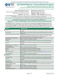 BCN Referral and Clinical Review Program - e-Referral