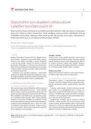 Doporučení pro duplexní ultrazvukové vyšetření končetinových žil